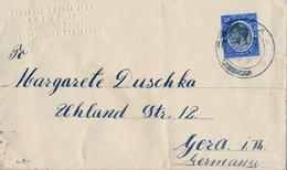 1923 TANGANYIKA, SOBRE CIRCULADO , TANGA - GERA - Tanganyika (...-1932)