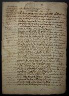 1721 Bail Des Fermes Et Terres De Mermont (Crépy Oise), Moyennant 42 Muids 10 Mines De Grains - Manuscripts