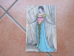 1904 Wanda BORISSOF Ed.Alterocca A Rilievo Brillantini - Artisti
