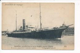 Carte Du Paquebot Poste MANOUBA De La Compagnie Touache Courrier D'algérie  ( Recto Verso ) - Steamers