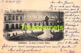 CPA KORTRIJK COURTRAI 1899  LA GARE ET STATUE PALFYN - Kortrijk