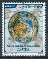 °°° ITALIA 2012 - ARTE DELLA CERAMICA - CASTELLI °°° - 6. 1946-.. Repubblica