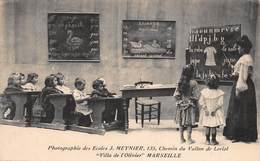 """CPA Marseille - Photographie Des Ecoles J.Meynier, 135, Chemin Du Vallon De Loriol """"Villa De L'olivier"""" - Endoume, Roucas, Corniche, Spiaggia"""