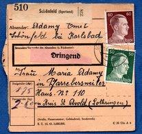 Colis Postal  -  Départ Schönfeld ( Egerland )  - Pour Pfarrebersweiler ( Farebersviller ) - Covers & Documents
