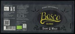 France Étiquette Bière Beer Label Artisanale Bosco Blonde Saint Malo - Beer