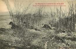 #230619B - GUERRE MILITARIA Guerre Lorraine 1914 1915 Sur Le Front Destruction D'un Réseau Fils De Fer Barbelé Poilu - Guerre 1914-18