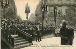 #230619B - GUERRE MILITARIA Guerre 1914 1918 PARIS Revue Du 14 Juillet 1918 Discours De M SCHARP Ambassadeur Des EU - Guerre 1914-18