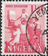NIGERIA 1961 Adult Education - 1 1/2 D - Red FU - Nigeria (1961-...)