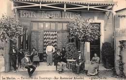 CPA Le Merlan - Terminus Des Tramways - Bar Restaurant Réveillet - Grand Jardin - Quartiers Nord, Le Merlan, Saint Antoine