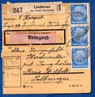 Colis Postal  -  Départ Lindenau ( über Zwickau )   - Pour Seingbouse - Covers & Documents