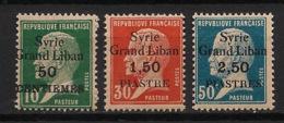 Syrie - 1923 - N°Yv. 102 - 103 - 104 - Pasteur 3 Valeurs - Neuf Luxe ** / MNH / Postfrisch - Syria (1919-1945)