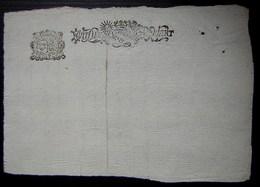 1698 Signification Pour Audience Avec Joli Cachet Au Revers (demi Feuille) - Manuscripts