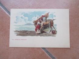 NAVIGAZIONE GENERALE ITALIANA Dal Bordo Del  Piroscafo Tip.MARZI Costumi Pescatori - Altri