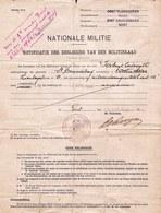 Militair Dokument - 1940 - Nationale Militie - MILITIERAAD - Oostakker - Uitzonderingsuitsel Verbuyt Lodewijk - Documents Historiques