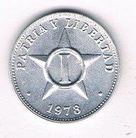 1 CENTAVO 1978 CUBA /4941/ - Cuba