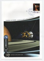 19/6 Exploration Spatiale Grande Enveloppe 16 X 23 Cm Micronesie Cassini Huygens 1997 SUPERBE - Unclassified