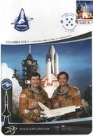 19/6 Exploration Saptiale Grande Enveloppe 16 X 23 Cm Solomon Islands COLUMBIA STS-1 YOUNG CRIPPEN SUPERBE - Unclassified