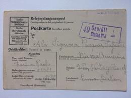 GERMANY Kriegsgefangenenpost Postkarte Stalag VIJ `süditalien` Cachet To Sicily - Besetzungen 1938-45