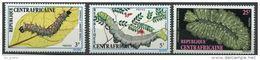 """Centrafrique YT 198 à 200 """" Chenilles """" 1973 Neuf** - Centrafricaine (République)"""