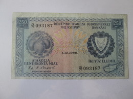 Cyprus 250 Mils 1980 Banknote - Cyprus