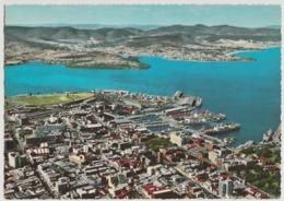Australia TASMANIA Panorama Wharves Harbour HOBART Engelander Krüger 798/48 Postcard - Hobart