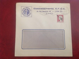 EFGE Savon Lyon Oullins - Marcophilie (Lettres)
