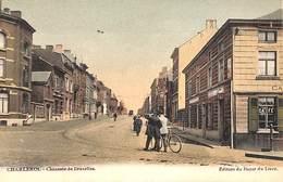 Charleroi - Chaussée De Bruxelles (animée, Colorisée, Café, Edition Du Bazar Du Livre) - Charleroi