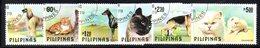 APR1524 - FILIPPINE 1979, La Serie Usata A Tema Cani E Gatti (2380A) . Cats Dogs - Filippine