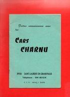 JURA SAINT LAURENT EN GRANDVAUX LES CARS CHARNU Programmes 1960 Et 1980 .8 Pages  Nombreuses PHOTOS - Programs