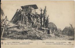 D80 - HERBECOURT - GUERRE 1914-15-16 - DANS LA SOMME UNE MAISON D'HERBECOURT - Autres Communes
