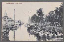 Bruxelles - Le Canal - Nombreuses Péniches à Quai - 1919 - Maritime