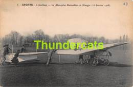 CPA SPORTS AVIATION LE MONOPLAN GASTAMBIDE ET MANGIN - Aviateurs
