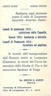 ORATORIO DI LUSIGNANA - CAPPELLA DISTRUTTA DAI BOMBARDAMENTI DEL 1945 E RICOSTRUITA NEL 1953 - Religione & Esoterismo