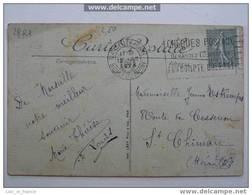 Flamme Sur Carte Postale Cheques Postaux Marseille - Marcophilie (Lettres)