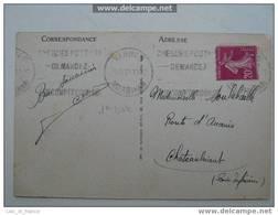 Flamme Cheques Postaux Vannes - Marcophilie (Lettres)