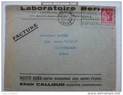 Flamme Sur Lettre Monnaie De Paris Grenoble 1937 - Marcophilie (Lettres)