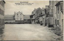 MONTBELIARD  Inondations 1913- La Luzine Au Pont De La Rouchotte - Montbéliard