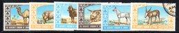 APR1534 - GIORDANIA JORDAN  1966 , La Serie Usata A Tema ANIMALI   (2380A) . - Giordania