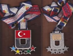 AC - UNIVERSITIES VOLLEYBALL 2012 TURKISH UNIVERSITY SPORTSFEDARATION MEDALLION - MEDAL - Deportes