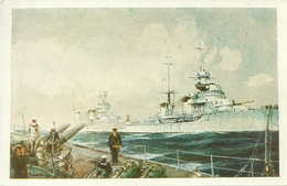 Navi Militari In Navigazione, Riproduzione B36, Reproduction - Guerra