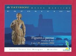 """Cart à Pub.   Exposition """"Figures De Proue"""".   Ile De Tatihou, Musée Maritime.  Manche. - Expositions"""