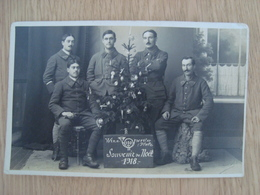 CP PHOTO MILITAIRES WINN 120 SOUVENIR DE NOËL 1918 - Guerra 1914-18