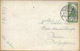 PRv-739: N° 122: VLISSINGEN  1925 : Op Fantasiekaartje: Dame > Puers  B - Lettres & Documents