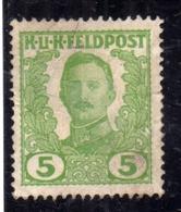 BOSNIA EZERGOVINA 1918 EMPEROR KARL I IMPERATORE CARLO 5h MLH - Bosnia Erzegovina