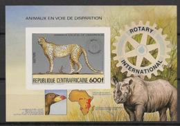 Centrafricaine - 1983 - Bloc BF N°Yv. 69B - Rotary / Guépard - Non Dentelé / Imperf. - Neuf Luxe ** / MNH / Postfrisch - Félins