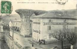 69 - ENV DE LYON - BEAUNAND - Les Aqueducs En 1913 - Cafe Restaurant Au Rdv Des Chasseurs - Autres Communes