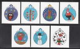 2014 Guernsey Christmas Noel Navidad  Complete Set Of 7 MNH @ BELOW FACE VALUE - Guernsey