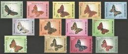2003/05 Iran Butterflies Definitives Complete Series (** / MNH / UMM) - Mariposas