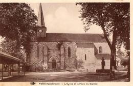 23. CPA. VALLIERES. L'église Et La Place Du Marché. - Pontarion