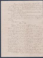 """Manuscrit De 1846.Ambrières,partage En 4 Lots Avec """"tirage Au Sort"""". - Manuscripts"""